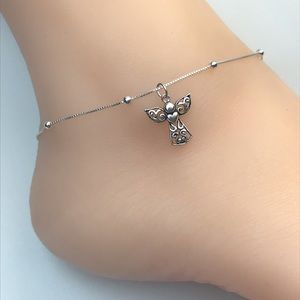 Jewelry - Sterling Silver Angel Anklet